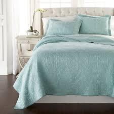 melissa 3 piece seafoam green paisley fl soft washed 100 cotton quilt set