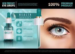 Глазные капли реалистичные рекламные шаблоны | Бесплатно ...