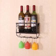 creative wine rack red wine cup holder upside down goblet shelf household iron art hanging wall