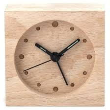 kikkerland clock wood large alarm flip instructions