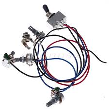 popular guitar toggle switch wiring buy cheap guitar toggle switch 2 wiring harness 2v2t 3way box toggle switch jack 4 500k for gibson guitar