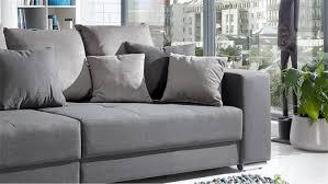 Sofa In Grau Bigsofa Adria Sofa In Stoff Grau Couch Mit