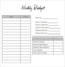 Personal Weekly Budget Templates Weekly Budget Planner 2 Weekly Budget Planner Weekly