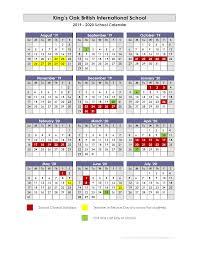 Academic Calendar Kings Oak British International School