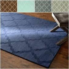 get ations a handmade trellis wool rug 5 x 8 cadet grey nuloom concentric diamond cotton