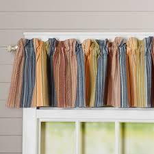 Plaid Kitchen Curtains Valances Striped Valances Kitchen Curtains Youll Love Wayfair