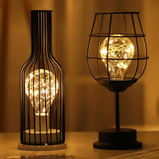 Creative Holiday Retro Iron Art Minimalist Hollow Table Lamps