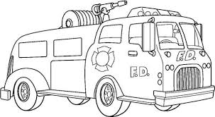 Small Picture Fire Truck with Super Water Canon Coloring Page coloring page