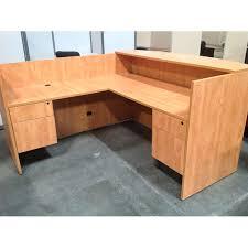 used l shaped reception desk