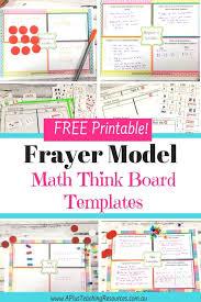 Frayer Model Worksheet Printable How To Make Kids Feel Smarter With Frayer Model Think Boards