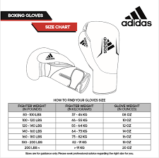 Adidas Gym Gloves Size Chart Adidas Speed 50 Boxing Gloves