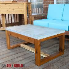 concrete patio table