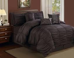 dark red master bedroom decor with queen hermosa ruffled dark brown comforter sets king best of