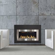 twenty6 fireplace insert with combo stainless steel and satin black surround