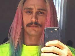 It's shirtless james franco rockin' braids, what looks like platinum grills and tats on the florida set of that spring breakers flick yesterday. James Franco Just Got Pinterest Worthy Rainbow Hair Allure