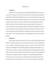 muhammad ali s leadership essay muhammad ali i introduction  muhammad ali s leadership essay muhammad ali i introduction muhammad ali was an amazing boxer a loving and giving philanthropist and an active social