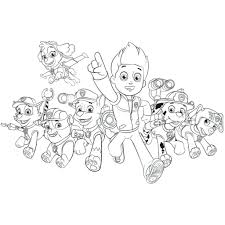 Paw Patrol Group Coloring Pages