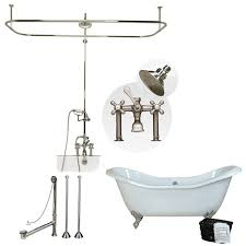 randolph morris 72 inch acrylic double slipper tub and shower package