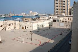 a 2007 installation by the spanish artist maider lópez that turned the square outside the sharjah art museum into a soccer field