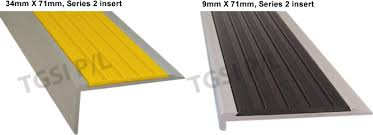 exterior stair treads and nosings. aluminium stair nosing with black rubber insert exterior treads and nosings