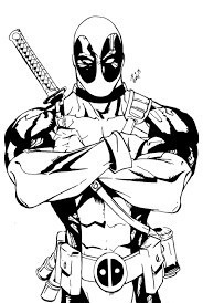 Deadpool By Yagmurkarabulut On At Deviantart Skins Kleurplaten
