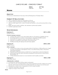 secretary sample resume ...