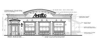 restaurant exterior drawing. Modren Drawing Proposed Exterior With Restaurant Drawing T