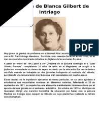 Biografía de Blanca Gilbert de Intriago