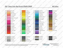 Clean Color Real Brush Color Chart Download