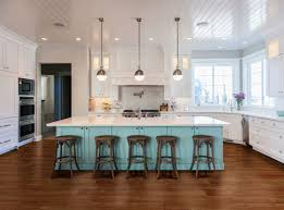pendants spaced over a kitchen island