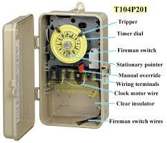 intermatic t100 series timers parts manuals and wiring how to set and operate t100 series timers