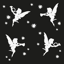 天使ラッパシルエットのイラストaieps ベクタークラブ