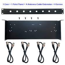 Us 15 99 19 Wireless Microphone Rack Bracket Shelf Kit For Shure Slx4 Pgx4 Qlxd4 Blx288 G2 G3 Microfono Receiver Transmitter Mounting In