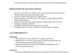 Resume Sample Police Resume Samples Police Resume Skills Military