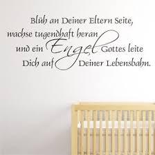 Engel Gottes Wandtattoo Blüh An Deiner Eltern Seite Sprüche Kinder