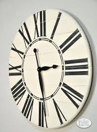 antique white wall clock inch oversized antique white farmhouse wall clock rustic antique white skeleton wall clock
