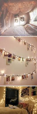 string light diy ideas cool home. Cool Tumblr Bedrooms For Teenage Bedroom Inspiration: Wall Gallery And String Lights Attractive Light Diy Ideas Home V