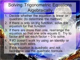 15 solving trigonometric equations