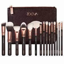 zoev brushes professional makeup kit 15 pcs black make up brushes set with bag makeup brushes