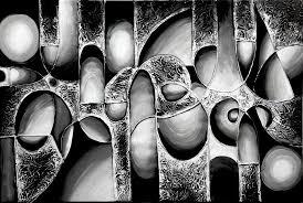 modern art paintings black white becuo