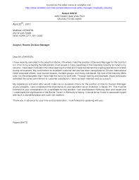 Hotel Resume Cover Letter