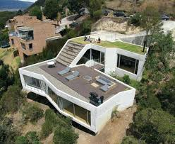 building a house on a hill steep hillside house plans hill green living roof sims 3 build house on hill