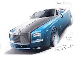 Bespoke Car Design Rolls Royce Bespoke Waterspeed Collection Design Sketch
