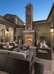 Outdoors By Design Olympia Beautiful Outdoor Living Space With Coronado Stone Fireplace