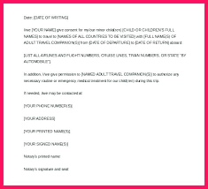 Template Permission To Travel Letter Template