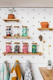 Pegboard Kitchen 9 Ideas For Using Pegboard And Dowels To Create Open Shelves