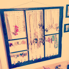 diy jewelry holder out of old window craft ideas diyone mans pertaining to fascinating diy jewelry