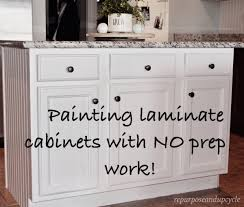 Painting Laminate Cabinets Painting Laminate Cabinets With No Prep Work Repurpose And