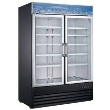 coldline gdc40f 49 double glass swing door merchandiser freezer 29 cu ft