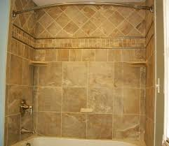 tile shower and tub ideas natural brown unfinished wooden vanity cabinets nice tile window without curtain